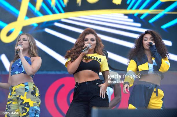 Jade Thirlwall Jesy Nelson and LeighAnne Pinnock of Little Mix perform onstage during the Daytime Village Presented by Capital One at the 2017...