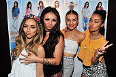 Jade Thirlwall Jesy Nelson Perrie Edwards and LeighAnne Pinnock of Little Mix at Hollister Co on August 6 2015 in San Diego California
