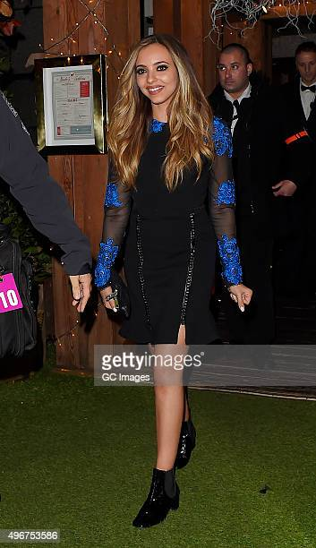 Jade Thirlwall leaves Bodo's Schloss nightclub on November 11 2015 in London England