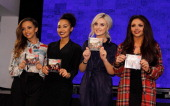 Jade Thirlwall Leigh Anne Pinnock Perrie Edwards and Jesy Nelson of Little Mix meet fans and sign copies of their new album 'Salute' at HMV Oxford...