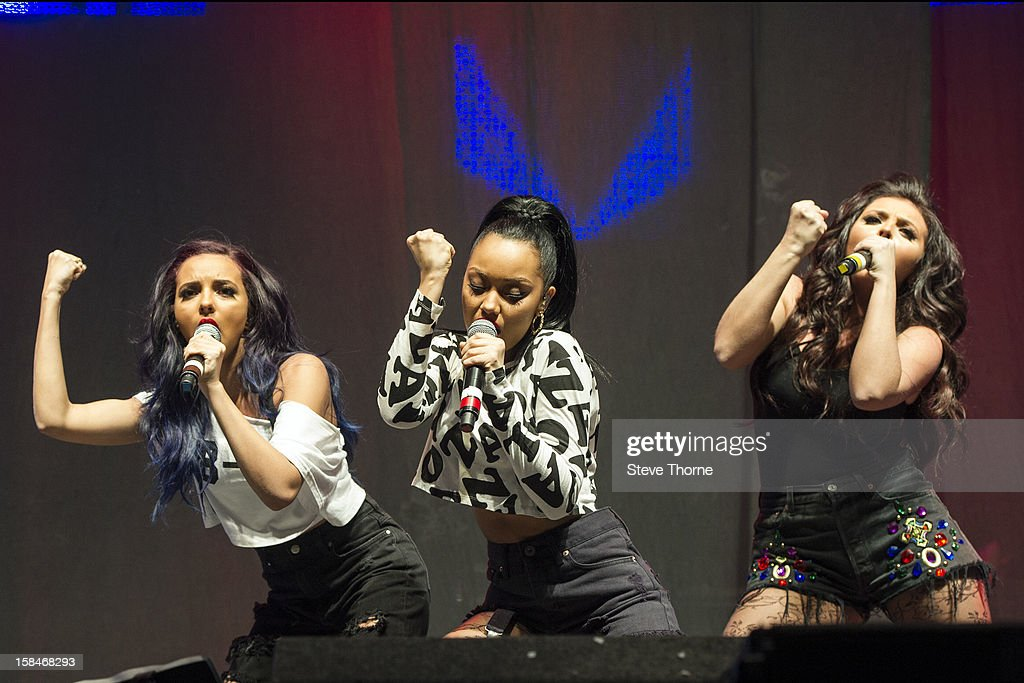 Jade Thirlwall, Leigh-Anne Pinnock and Jesy Nelson of Little Mix perform at the Free Radio Live gig at LG Arena on December 15, 2012 in Birmingham, England.