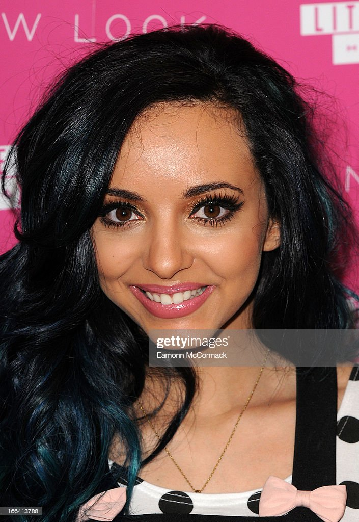 <a gi-track='captionPersonalityLinkClicked' href=/galleries/search?phrase=Jade+Thirlwall&family=editorial&specificpeople=8378191 ng-click='$event.stopPropagation()'>Jade Thirlwall</a> of Little Mix poses at a photocall to launch their collection of press on nails for New Look at Westfield on April 12, 2013 in London, England.