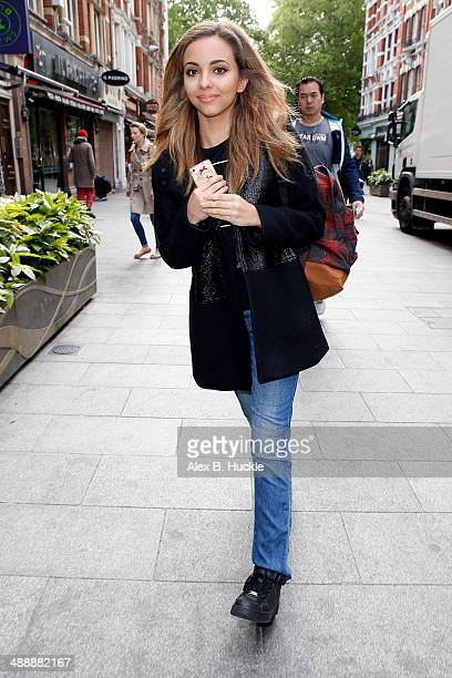 Jade Thirlwall of 'Little Mix sighted arriving at Capital FM Leicester Square on May 9 2014 in London England