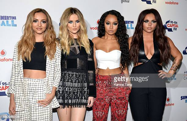 Jade Thirlwall Perrie Edwards LeighAnne Pinnock and Jesy Nelson from Little Mix attend the Capital Summertime Ball at Wembley Stadium on June 21 2014...