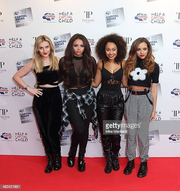 Jade Thirlwall Perrie Edwards LeighAnne Pinnock and Jesy Nelson from Little Mix attend the annual 'Capital Rocks' concert in aid of the 'Help a...