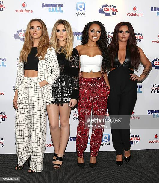 Jade Thirlwall Perrie Edwards LeighAnne Pinnock and Jesy Nelson of Little Mix attends the Capital Summertime Ball at Wembley Stadium on June 21 2014...