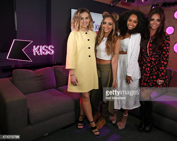 Jade Thirlwall Perrie Edwards LeighAnne Pinnock and Jesy Nelson of Little Mix met Rickie Melvin and Charlie from KISS FM UK's Breakfast show on May...