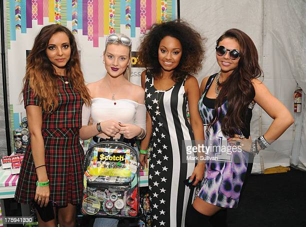 Jade Thirwall Perrie Edwards LeighAnne Pinnock and Jesy Nelson of Little Mix attend the Backstage Creations Celebrity Retreat At Teen Choice 2013 at...