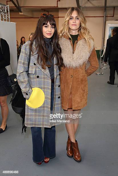 Jade Williams and Zara Martin attend the Eudon Choi show during London Fashion Week Spring/Summer 2016/17 on September 18 2015 in London England