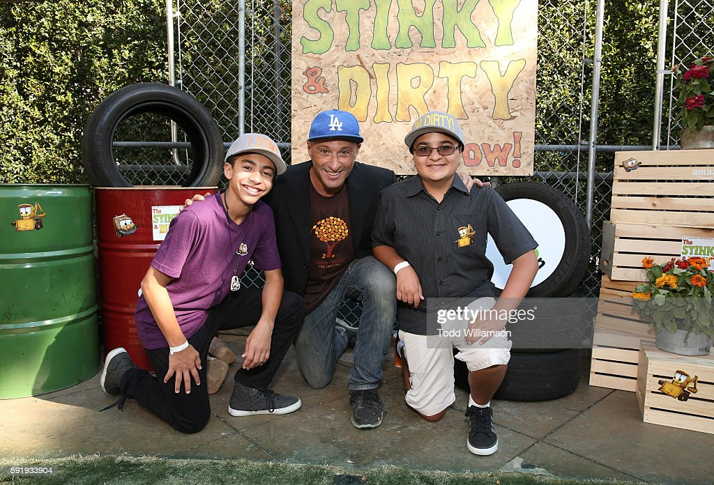 Jaden Betts Singer/songwriter Dan Bern and Jacob Guenther attend the Premiere Screening And Party For Amazon Original Series 'The Stinky Dirty Show'...