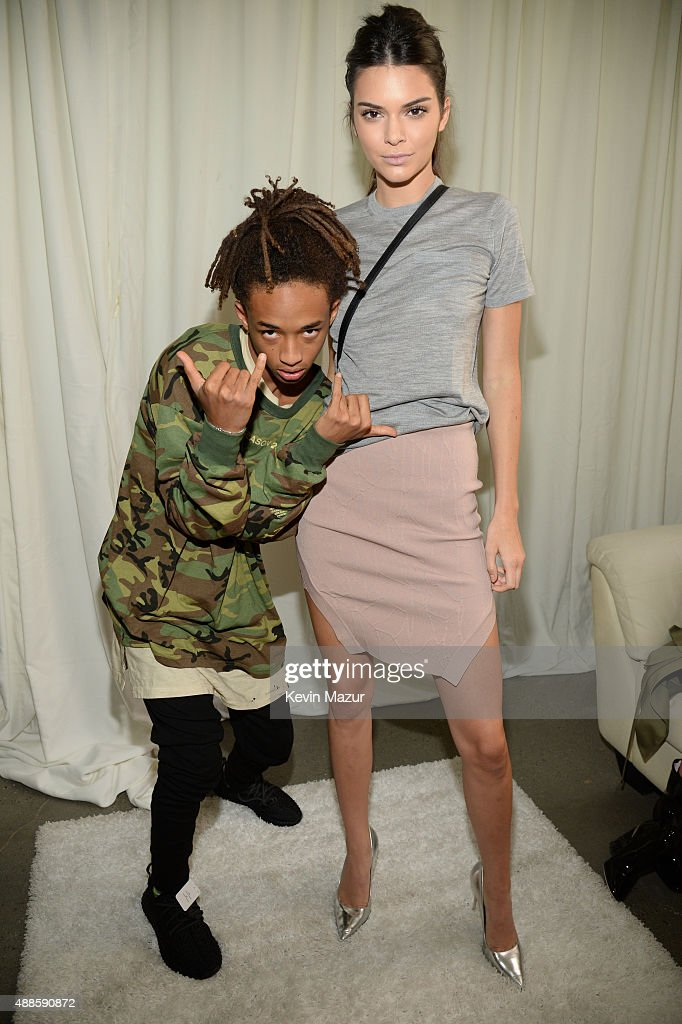 Jaden Smith and Kendall Jenner attend Kanye West Yeezy Season 2 during New York Fashion Week at Skylight Modern on September 16, 2015 in New York City.