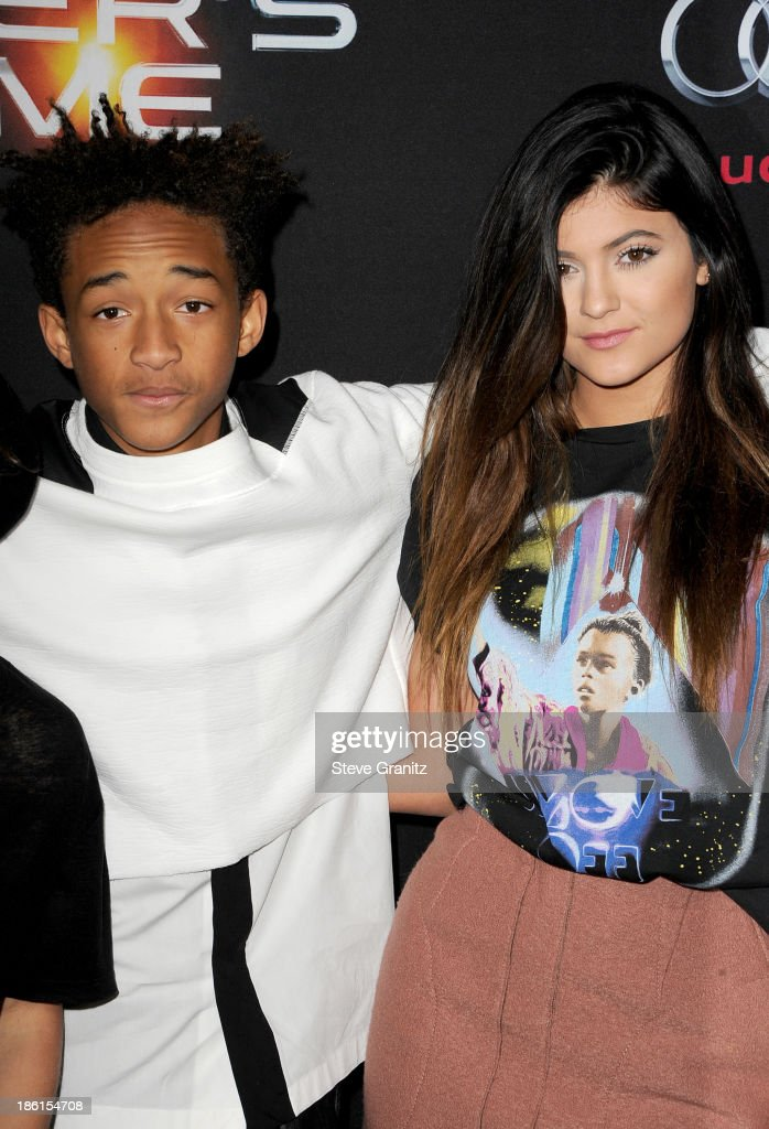Jaden Smith and Kylie Jenner attend the 'Ender's Game' Los Angeles premiere at TCL Chinese Theatre on October 28 2013 in Hollywood California