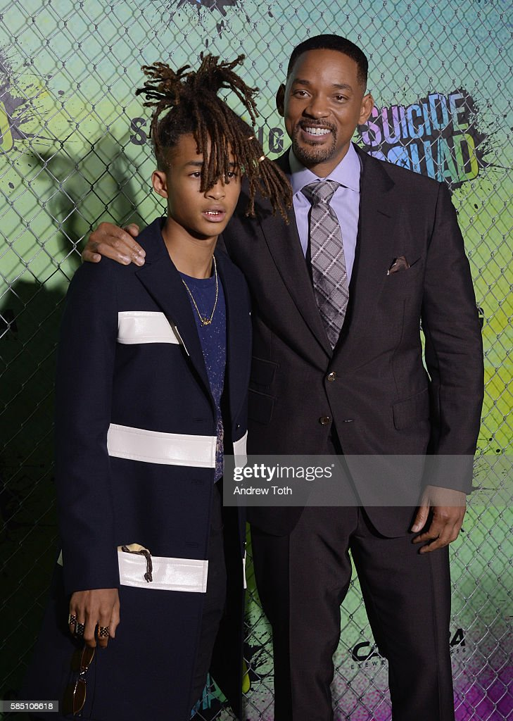 Jaden Smith and Will Smith attend the 'Suicide Squad' World Premiere at The Beacon Theatre on August 1, 2016 in New York City.
