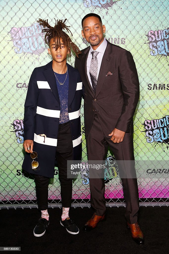 Jaden Smith and Will Smith attend the world premiere of 'Suicide Squad' at The Beacon Theatre on August 1, 2016 in New York City.