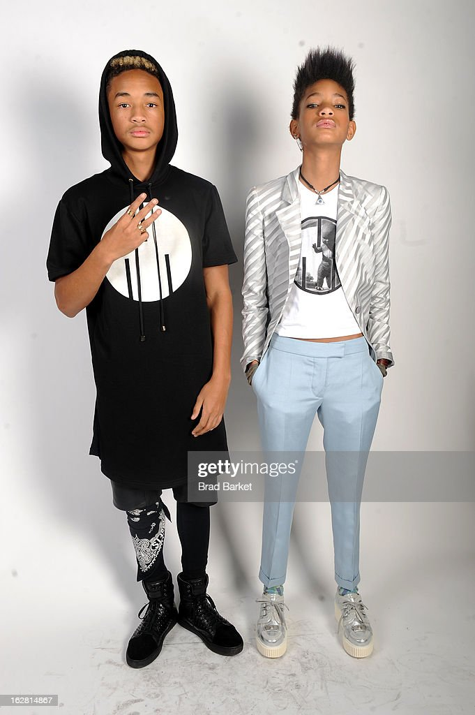 Jaden Smith and Willow Smith attend BET's Rip The Runway 2013:Backstage Hammerstein Ballroom on February 27, 2013 in New York City.