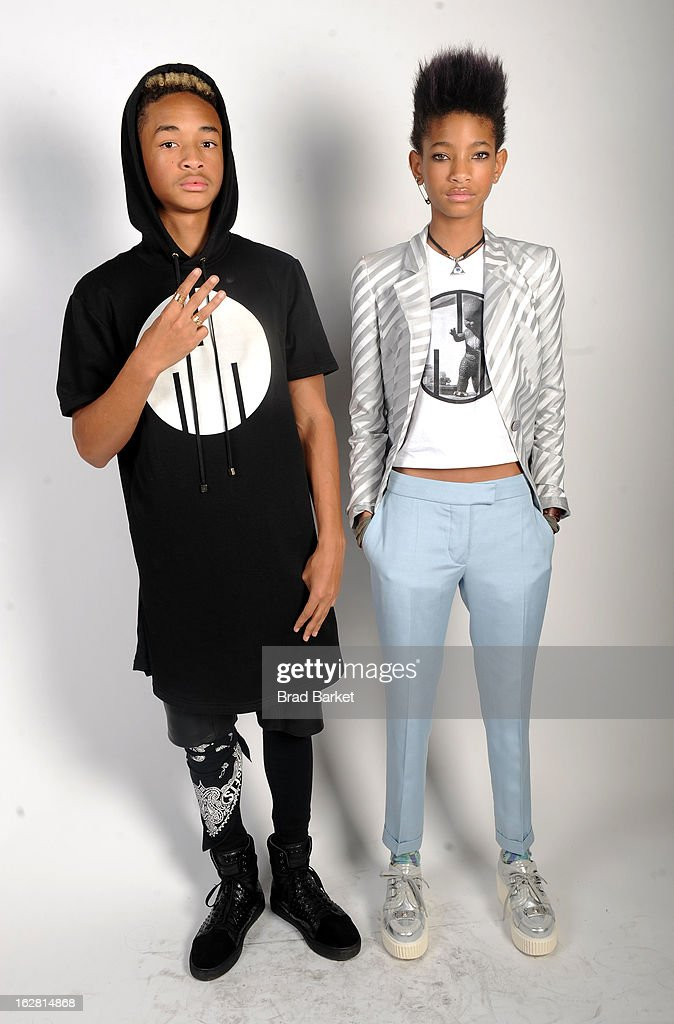<a gi-track='captionPersonalityLinkClicked' href=/galleries/search?phrase=Jaden+Smith&family=editorial&specificpeople=709174 ng-click='$event.stopPropagation()'>Jaden Smith</a> and <a gi-track='captionPersonalityLinkClicked' href=/galleries/search?phrase=Willow+Smith&family=editorial&specificpeople=869488 ng-click='$event.stopPropagation()'>Willow Smith</a> attend BET's Rip The Runway 2013:Backstage Hammerstein Ballroom on February 27, 2013 in New York City.