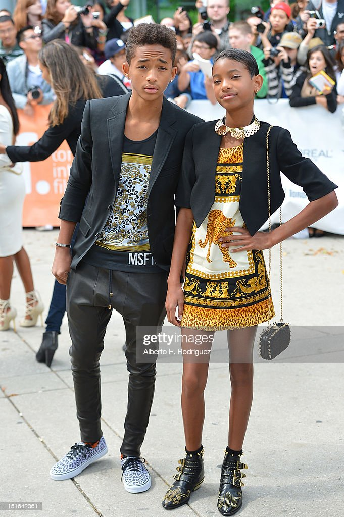 <a gi-track='captionPersonalityLinkClicked' href=/galleries/search?phrase=Jaden+Smith&family=editorial&specificpeople=709174 ng-click='$event.stopPropagation()'>Jaden Smith</a> and <a gi-track='captionPersonalityLinkClicked' href=/galleries/search?phrase=Willow+Smith&family=editorial&specificpeople=869488 ng-click='$event.stopPropagation()'>Willow Smith</a> attend the 'Free Angela & All Political Prisoners' premiere during the 2012 Toronto International Film Festival at Roy Thomson Hall on September 9, 2012 in Toronto, Canada.