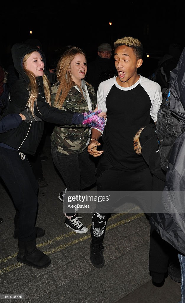 <a gi-track='captionPersonalityLinkClicked' href=/galleries/search?phrase=Jaden+Smith&family=editorial&specificpeople=709174 ng-click='$event.stopPropagation()'>Jaden Smith</a> arrives at the Langham Hotel on March 1, 2013 in London, England.