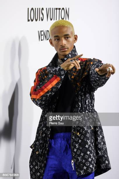 Jaden Smith arrives at the Opening Of The Louis Vuitton Boutique as part of the Paris Fashion Week Womenswear Spring/Summer 2018 on October 2 2017 in...