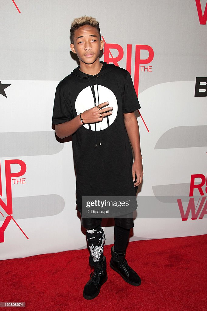<a gi-track='captionPersonalityLinkClicked' href=/galleries/search?phrase=Jaden+Smith&family=editorial&specificpeople=709174 ng-click='$event.stopPropagation()'>Jaden Smith</a> attends BET's Rip The Runway 2013 at Hammerstein Ballroom on February 27, 2013 in New York City.