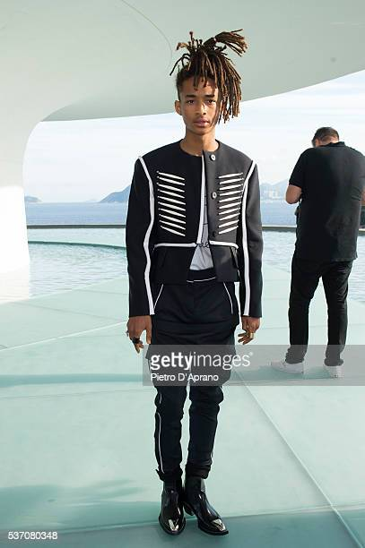 Jaden Smith attends Louis Vuitton 2017 Cruise Collection at MAC Niter on May 28 2016 in Niteroi Brazil