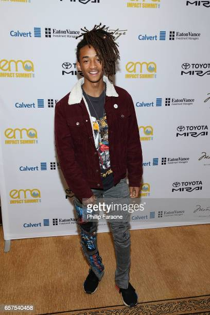Jaden Smith attends the EMA Impact Summit at Montage Beverly Hills on March 24 2017 in Beverly Hills California