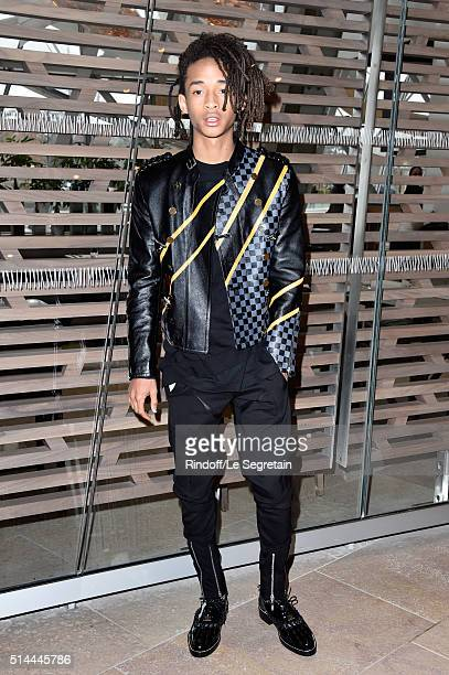 Jaden Smith attends the Louis Vuitton show as part of the Paris Fashion Week Womenswear Fall/Winter 2016/2017 on March 9 2016 in Paris France
