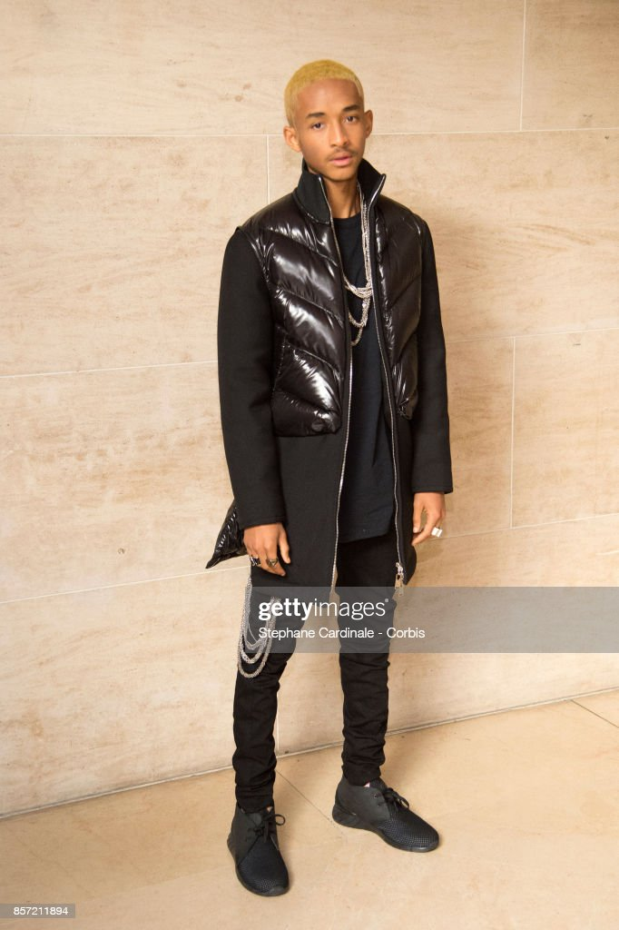 Jaden Smith attends the Louis Vuitton show as part of the Paris Fashion Week Womenswear Spring/Summer 2018 at Musee du Louvre on October 3, 2017 in Paris, France.