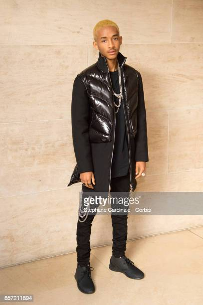 Jaden Smith attends the Louis Vuitton show as part of the Paris Fashion Week Womenswear Spring/Summer 2018 at Musee du Louvre on October 3 2017 in...