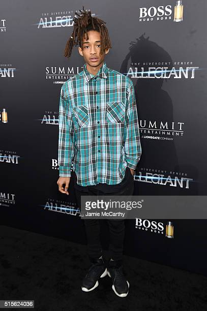 Jaden Smith attends the New York premiere of 'Allegiant' at the AMC Lincoln Square Theater on March 14 2016 in New York City