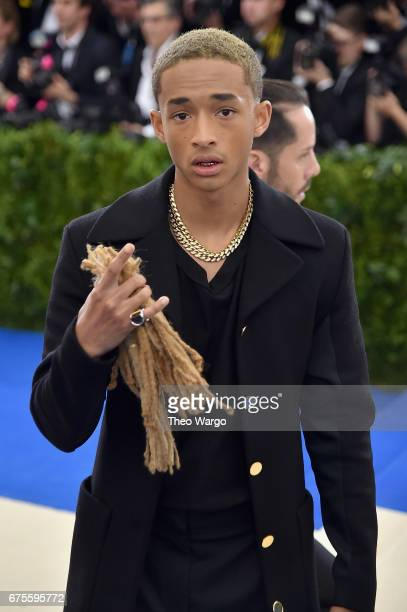 Jaden Smith attends the 'Rei Kawakubo/Comme des Garcons Art Of The InBetween' Costume Institute Gala at Metropolitan Museum of Art on May 1 2017 in...