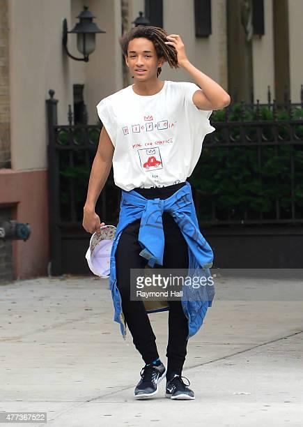 Jaden Smith is seen in Soho on June 16 2015 in New York City
