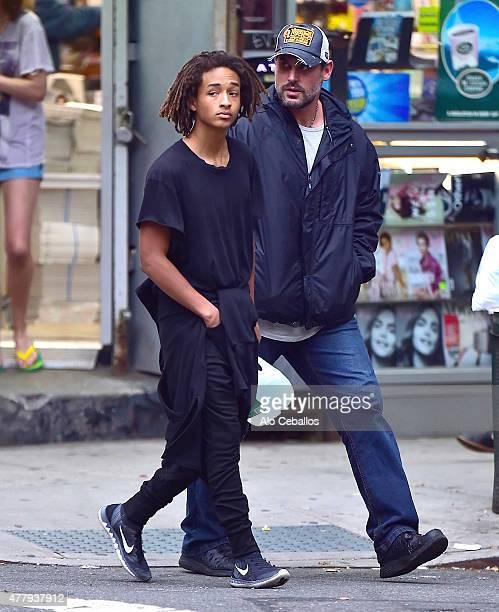 Jaden Smith is seen in Soho on June 20 2015 in New York City