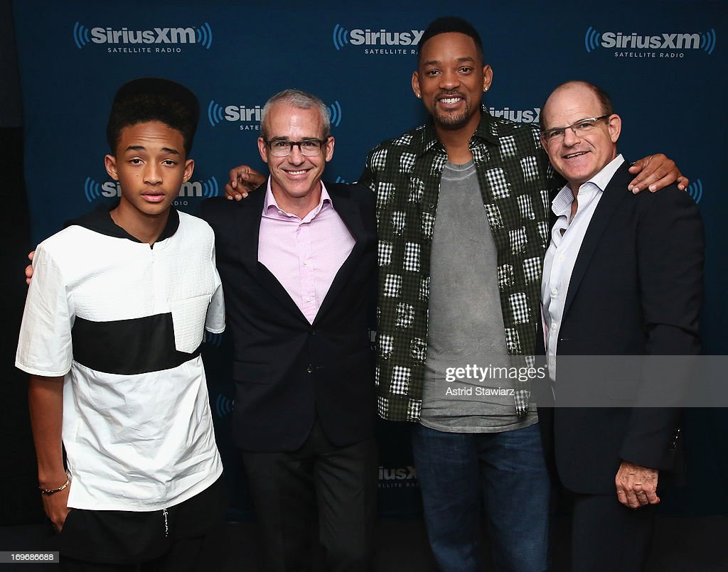 Jaden Smith Jess Cagle Editor of Entertainment Weekly Will Smith and Scott Greenstein President and Chief Content Officer SiriusXM attend 'SiriusXM's...