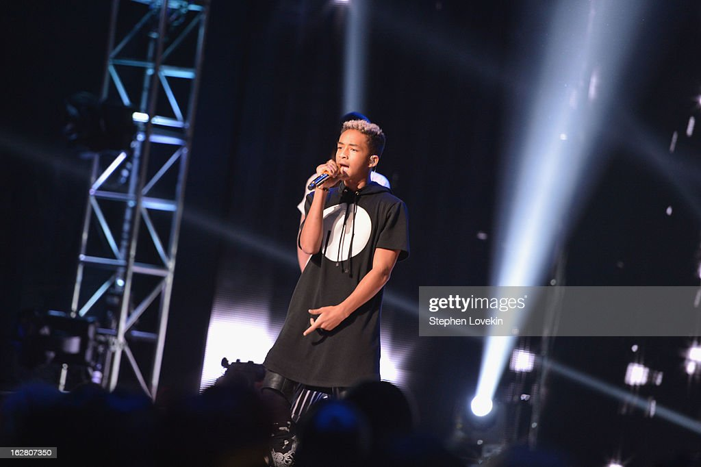 <a gi-track='captionPersonalityLinkClicked' href=/galleries/search?phrase=Jaden+Smith&family=editorial&specificpeople=709174 ng-click='$event.stopPropagation()'>Jaden Smith</a> performs at BET's Rip The Runway 2013:Show at Hammerstein Ballroom on February 27, 2013 in New York City.