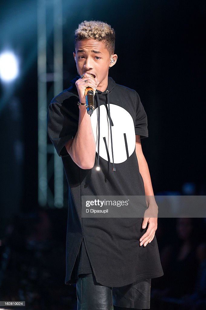 <a gi-track='captionPersonalityLinkClicked' href=/galleries/search?phrase=Jaden+Smith&family=editorial&specificpeople=709174 ng-click='$event.stopPropagation()'>Jaden Smith</a> performs during BET's Rip The Runway 2013 at Hammerstein Ballroom on February 27, 2013 in New York City.