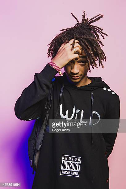 Jaden Smith poses for a poratrit backstage at Day 2 of the Fader Fort presented by Converse at Converse Rubber Tracks Studio on October 24 2014 in...