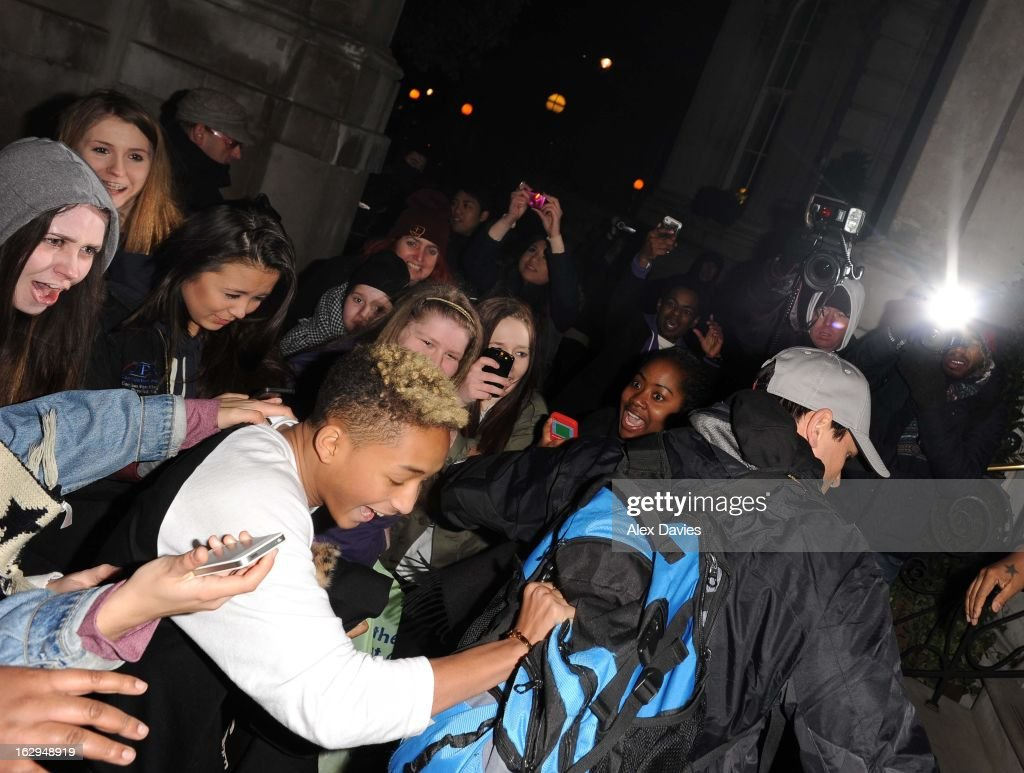 <a gi-track='captionPersonalityLinkClicked' href=/galleries/search?phrase=Jaden+Smith&family=editorial&specificpeople=709174 ng-click='$event.stopPropagation()'>Jaden Smith</a> sighting at the Langhem Hotel on March 1, 2013 in London, England.