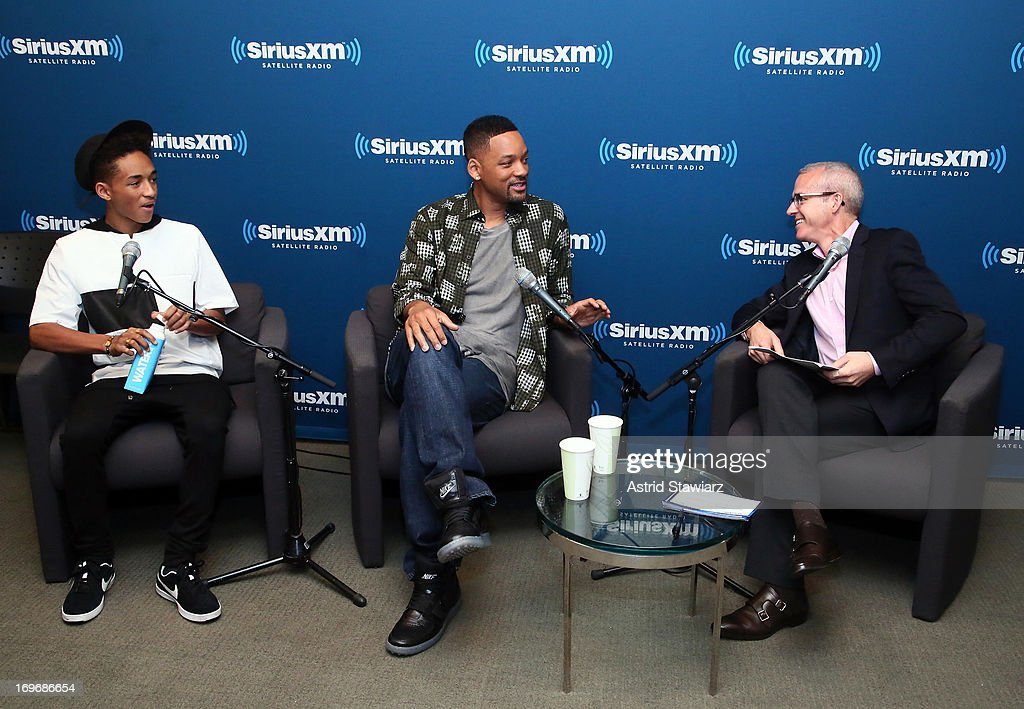 Jaden Smith Will Smith and Jess Cagle Editor of Entertainment Weekly attend 'SiriusXM's Town Hall With Jaden Smith And Will Smith' and Moderator Jess...