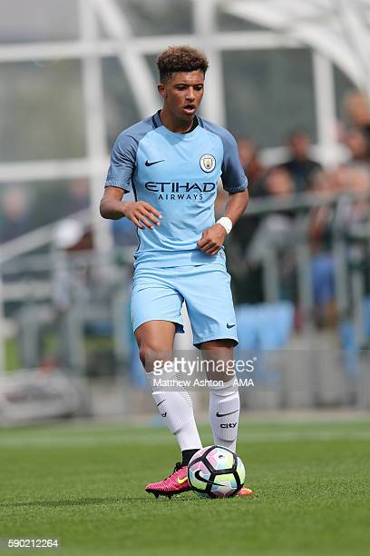 Jadon Sancho of Manchester City U18 during the U18 Premier League match between Manchester City and West Bromwich Albion at Etihad Campus on August...