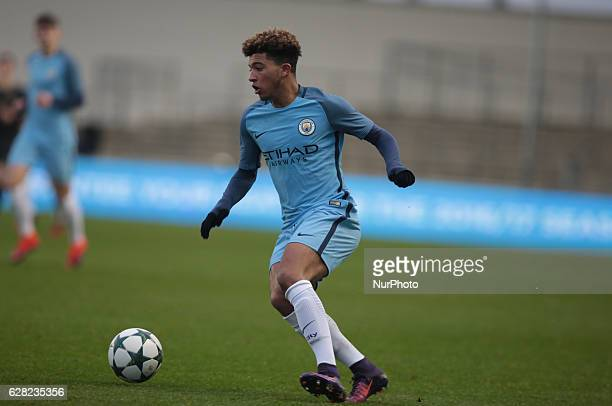 Jadon Sancho of Manchester City Uner 19s during U19 UEFA Youth League match between Manchester City Under 19s against Celtic Under 19s at Academy...