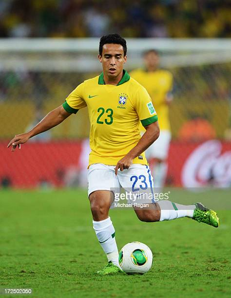 Jadson of Brazil in action during the FIFA Confederations Cup Brazil 2013 Final match between Brazil and Spain at Maracana on June 30 2013 in Rio de...