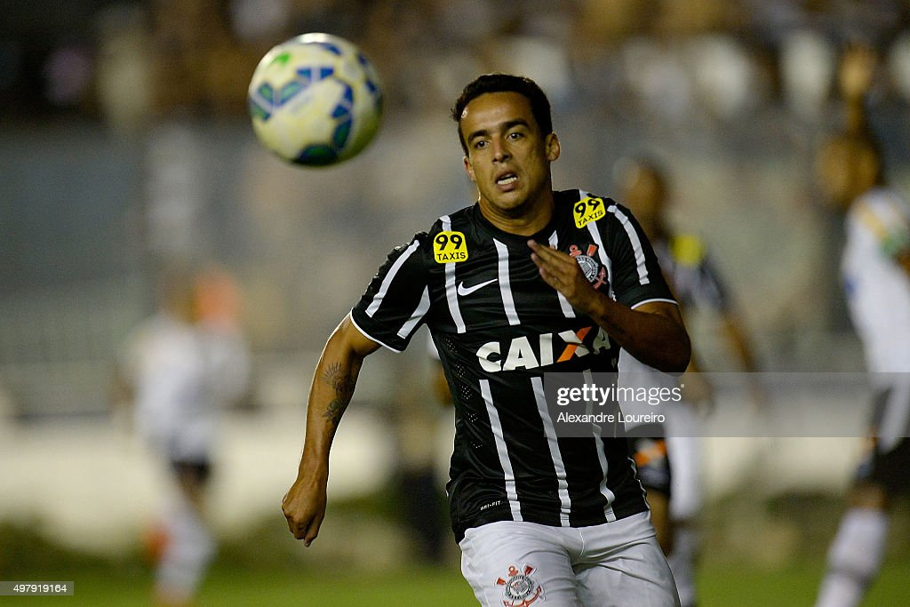 <a gi-track='captionPersonalityLinkClicked' href=/galleries/search?phrase=Jadson&family=editorial&specificpeople=3964470 ng-click='$event.stopPropagation()'>Jadson</a> of Corinthians in action during the match between Vasco and Corinthians as part of Brasileirao Series A 2015 at Sao Januario Stadiumon November 19, 2015 in Rio de Janeiro, Brazil.