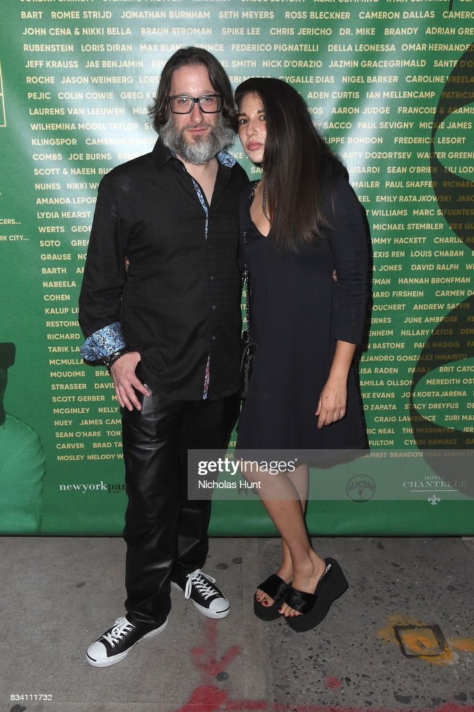 Jae Benjamin and Orit Garbourg attend the George Wayne's Annual Downtown 100 Party at Hotel Chantelle on August 17, 2017 in New York City.