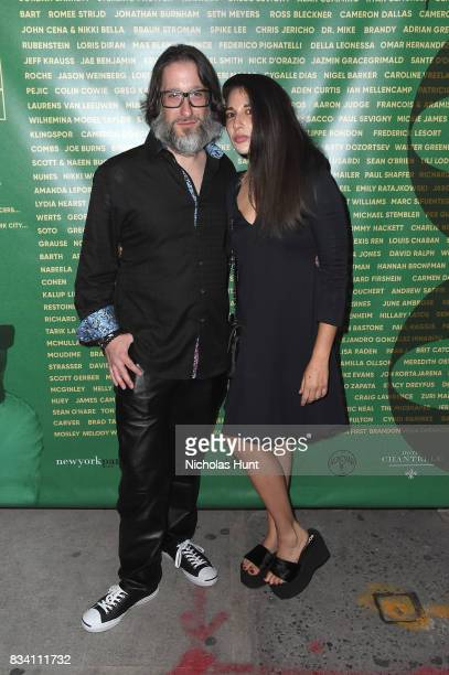 Jae Benjamin and Orit Garbourg attend the George Wayne's Annual Downtown 100 Party at Hotel Chantelle on August 17 2017 in New York City