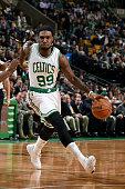 Jae Crowder of the Boston Celtics drives against the Charlotte Hornets on January 5 2015 at the TD Garden in Boston Massachusetts NOTE TO USER User...