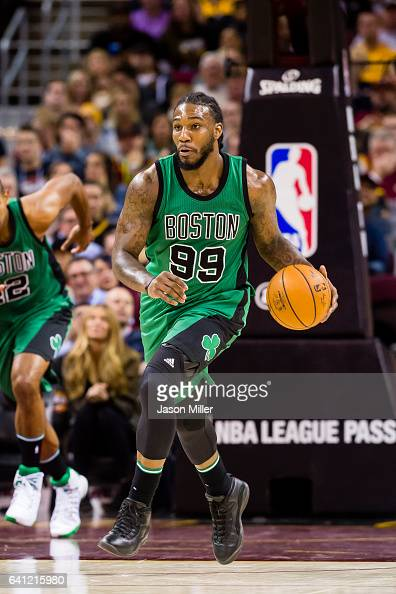 Jae Crowder of the Boston Celtics drives during the second half against the Cleveland Cavaliers at Quicken Loans Arena on December 29 2016 in...