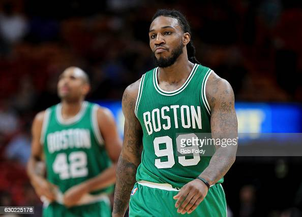 Jae Crowder of the Boston Celtics during the game against the Miami Heat at the American Airlines Arena on December 18 2016 in Miami Florida NOTE TO...