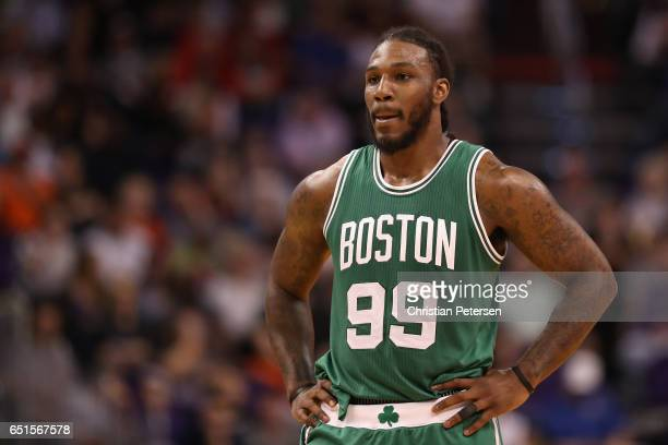 Jae Crowder of the Boston Celtics during the second half of the NBA game against the Phoenix Suns at Talking Stick Resort Arena on March 5 2017 in...