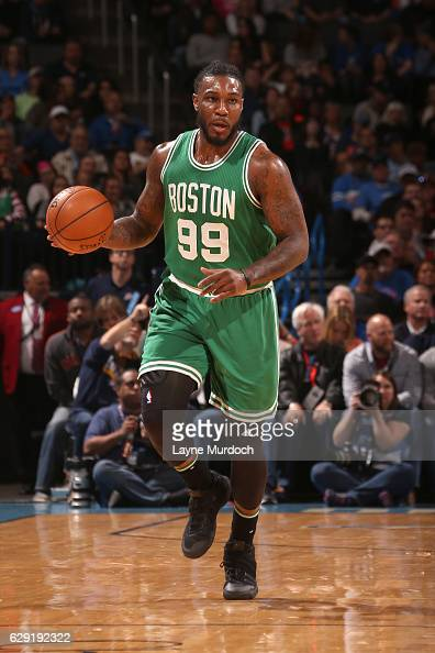 Jae Crowder of the Boston Celtics handles the ball against the Oklahoma City Thunder on December 11 2016 at Chesapeake Energy Arena in Oklahoma City...